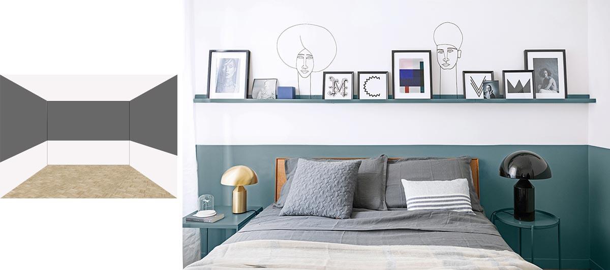 colorare le pareti di una stanza